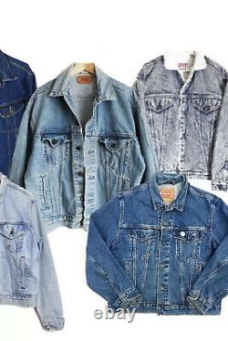 Wholesale Vintage Levis Denim Jacket Bundle X10 Jackets Grade A/b