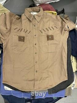 Wholesale Vintage Retro 90s Demin Cotton Overshirts Mixed Grade X 100