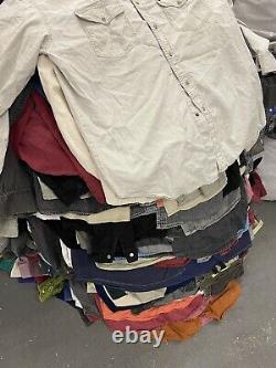 Wholesale Vintage Retro 90s Demin Cotton Overshirts Mixed Grade X 50