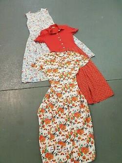 Wholesale Vintage Retro 90s Dresses Button Tie Mixed Grade X 100