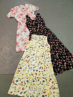 Wholesale Vintage Retro 90s Dresses Mixed Grade And Styles X 230 Clearance