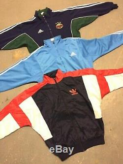 Wholesale Vintage Retro Sport Brand Jacket Track Tops Mixed Grade 90s 00s X 50