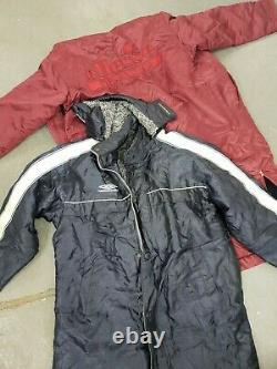 Wholesale vintage sport branded unbranded winter coats long line grade B x 85