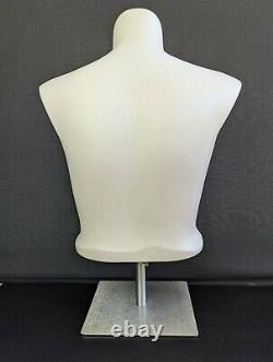 Women Mannequin XL Plus Size Half Body Torso Dress Form Commercial Grade