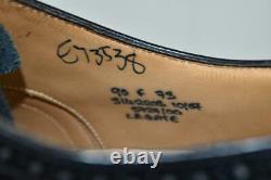 Xlent CHURCH'S Custom Grade Legate Black Cap Toe Bal withBrogue SHOES US 9.5 D